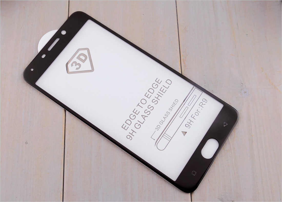 Szkła hartowane zaokrąglone do telefonów Oppo R9