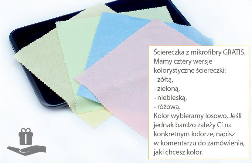 Dodatki do folii ochronnej - ścierki z mikrofibry