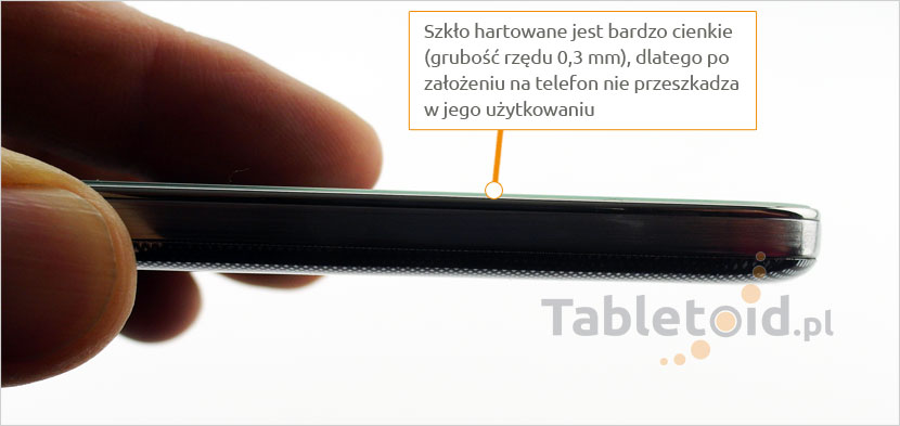 Grubość tempered glass do telefonu LG K7
