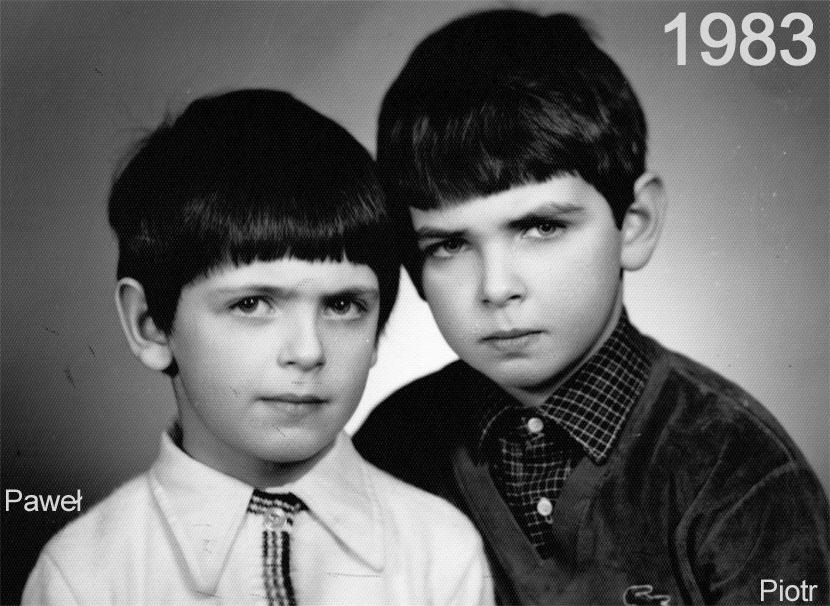 Paweł i Piotr jeszcze jako dzieci
