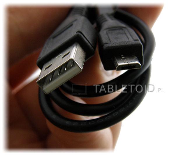 Kabelek - przejściówka z micro USB na zwykły wtyk do tableta
