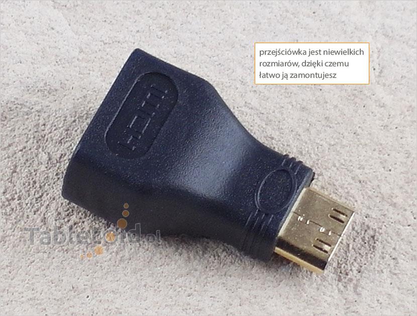 przejście mini HDMI do tabletu