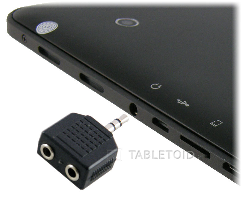 Rozgałęźnik mini-jack 3,5 mm w tablecie Kiano Pro 10 Dual