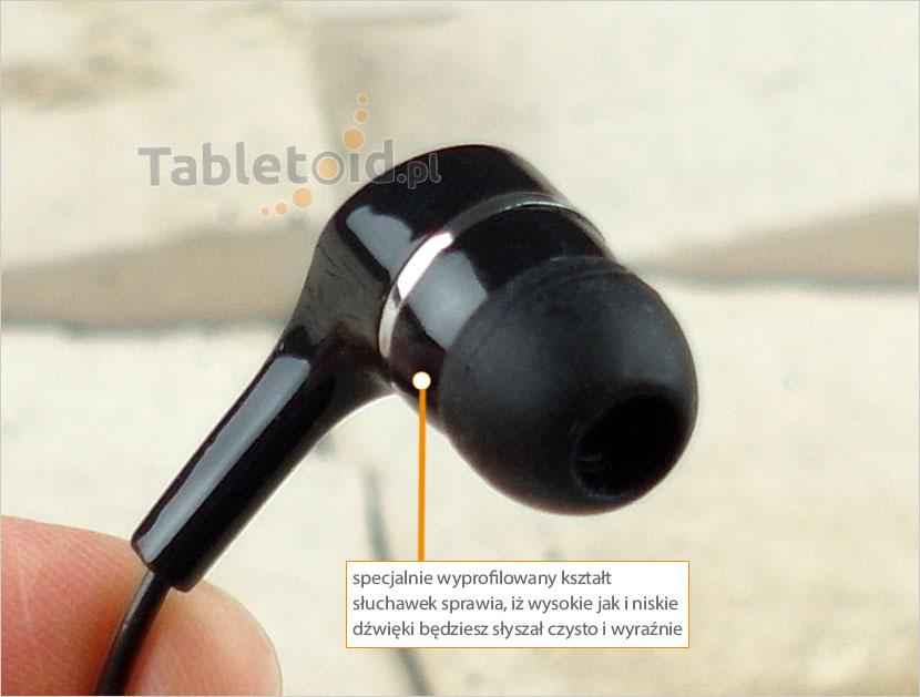 wyprofilowane słuchawki