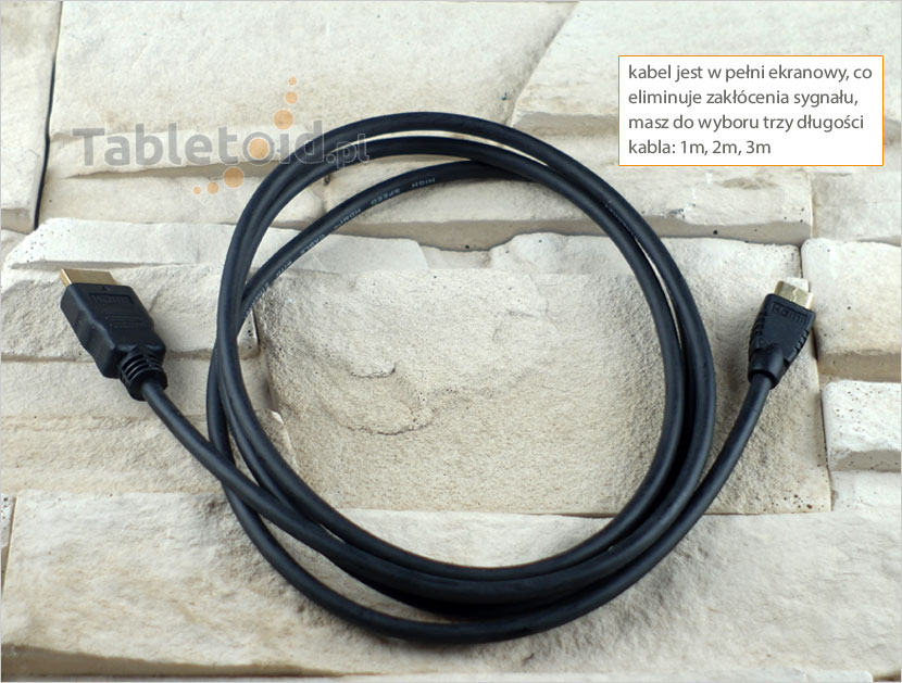 kabel mini HDMI do HDMI do tabletu
