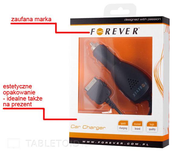ładowarka samochodowa - iPad i iPod - marki Forever
