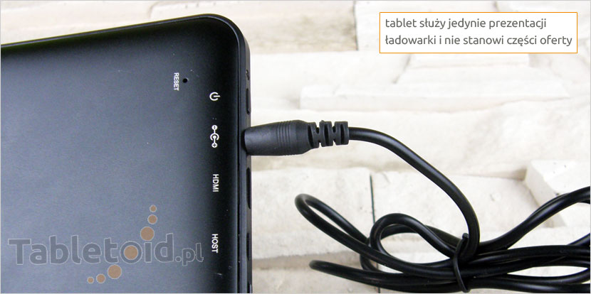 Ładowarka w tablecie na Androidzie