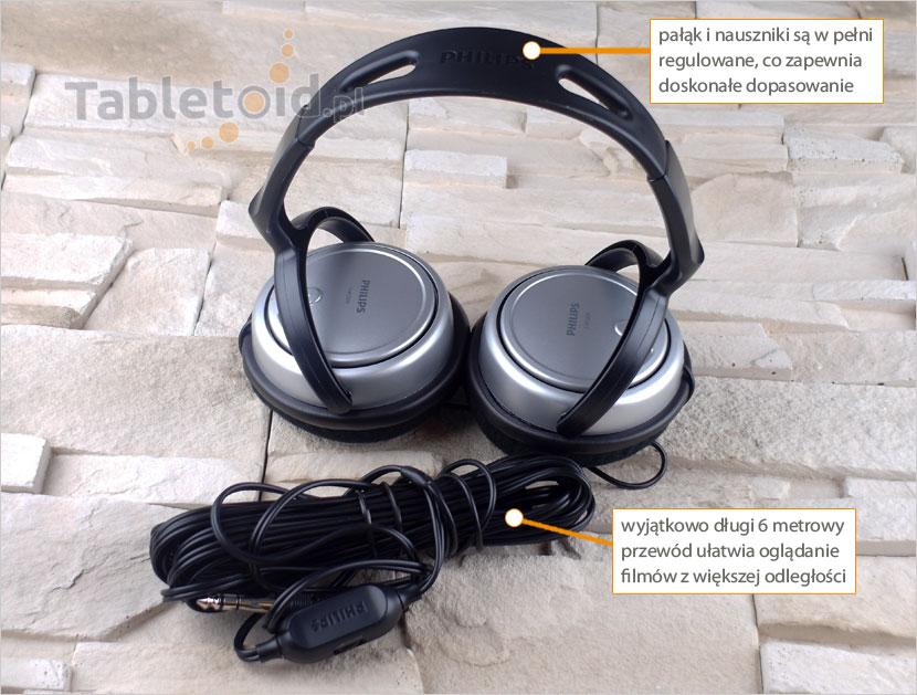 regulowany pałąk w słuchawkach do tabletu