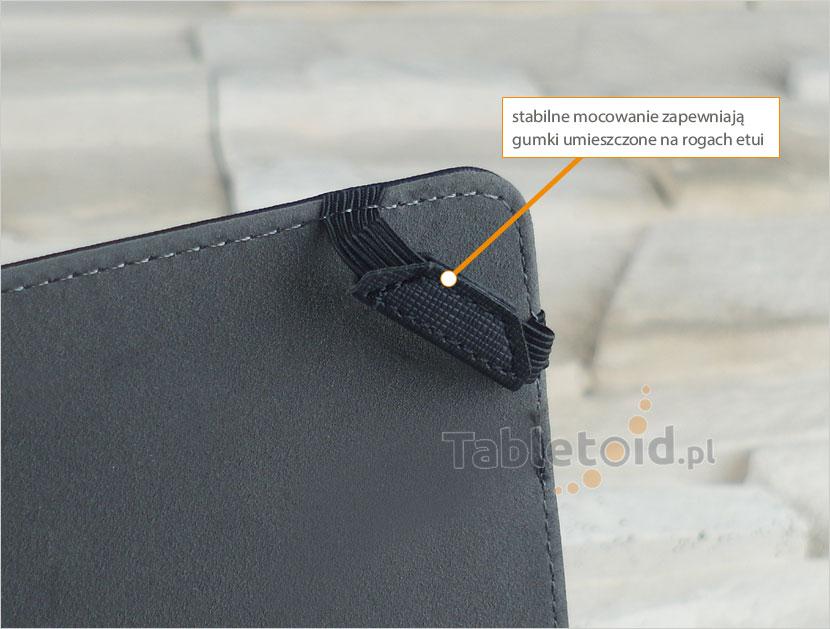 gumki trzymające tablet w etui