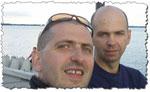 Paweł i Piotr Krzyworączka - właściciele sklepu