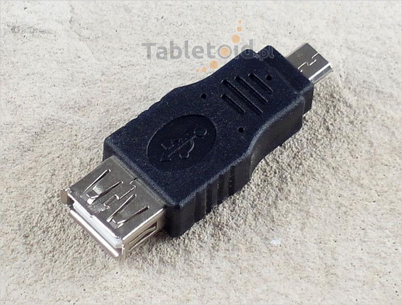 adapter męski micro USB żeński USB