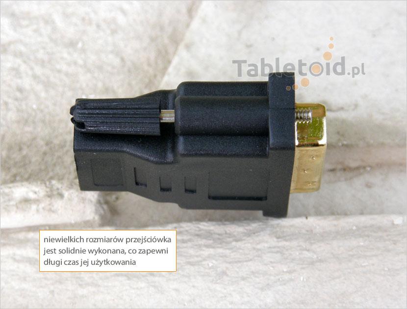 przejściówka HDMI do DVI do tableta