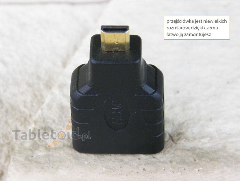 przejściówka micro-hdmi do tableta