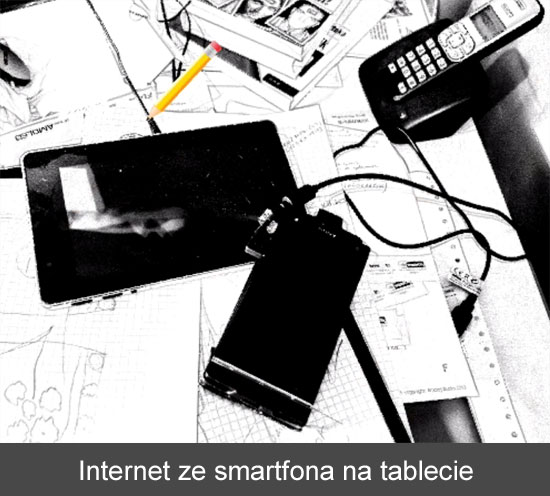 Internet ze smartfona w tablecie
