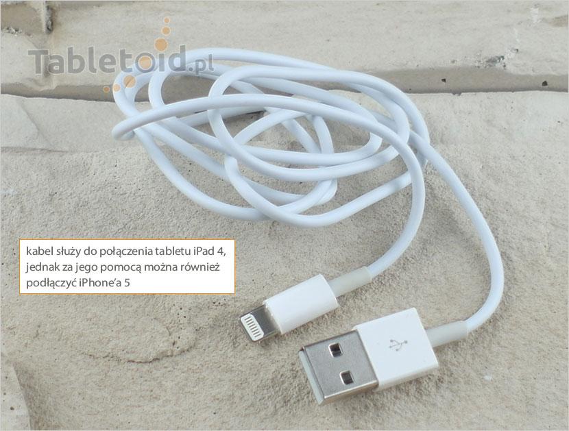 Kabel - przejściówka USB - new Apple iPad 4