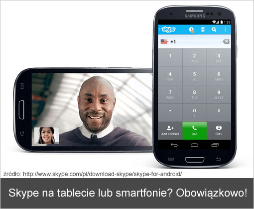 Skype na tablecie z Androidem