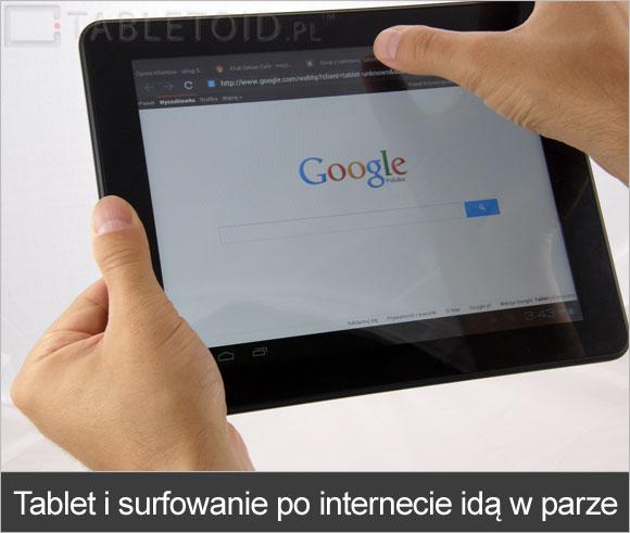 Tablet i surfowanie po internecie