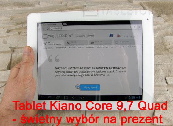 Tablet Kiano Core 9,7 Quad na prezent