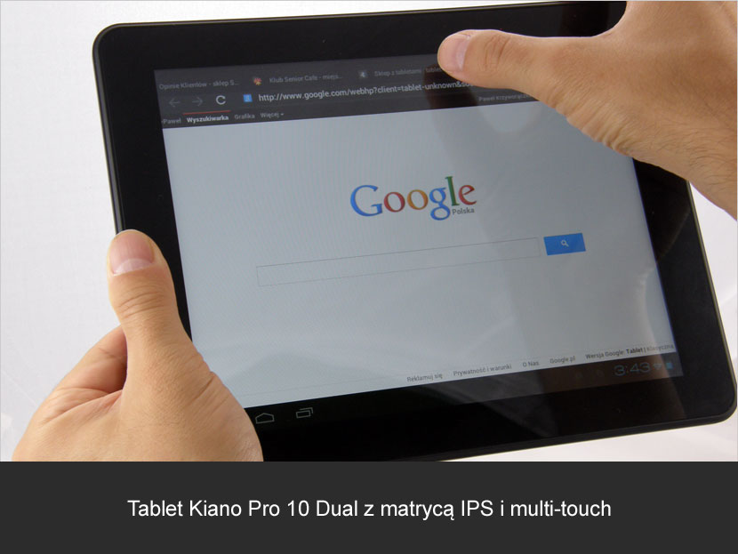 Tablet Kiano Pro 10 Dual z multi-touch