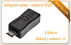 Adapter mini do micro USB do tabletu