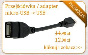 Przejściówka - adapter na kablu mikro USB