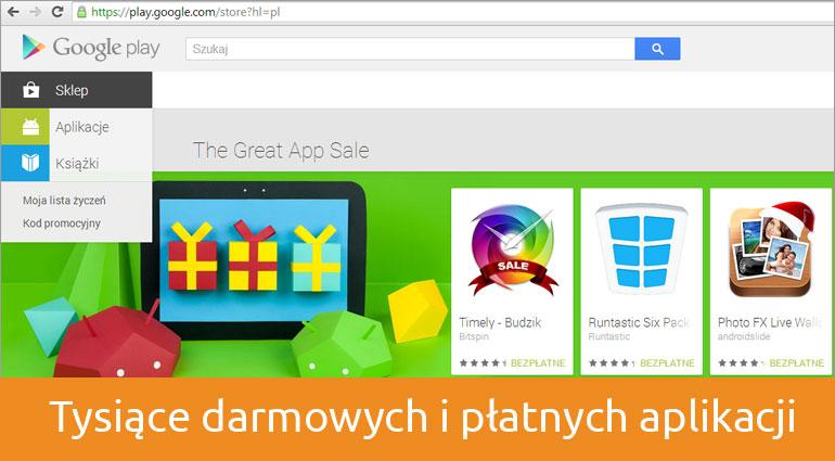 Tysiące aplikacji w Google Play