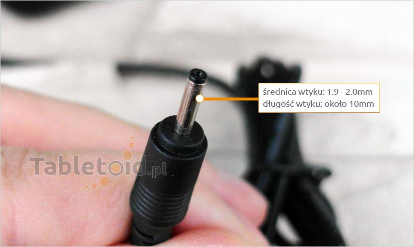 Ładowarka - zasilacz na tablet - wtyk okrągły