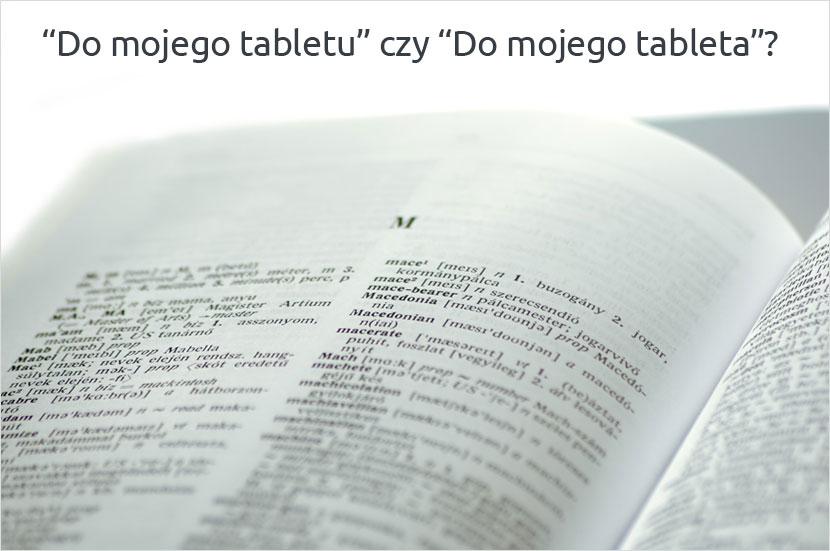 Tableta czy tabletu?