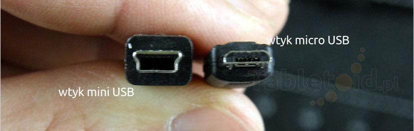 Wtyki USB: mini i micro - różnice