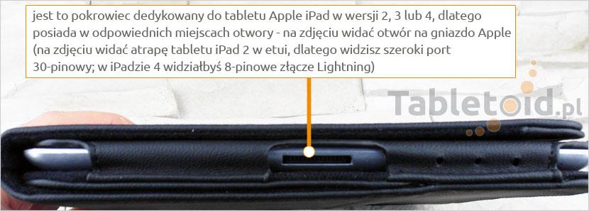 Wycięcie na gniazdo - port Apple 30 pin lub Lightning