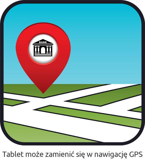Tablet wykorzystywany jako GPS