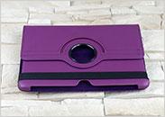 Dedykowany pokrowiec do tabletu Samsung Galaxy Tab 2 10.1 – fioletowy, obrotowy, dopasowany