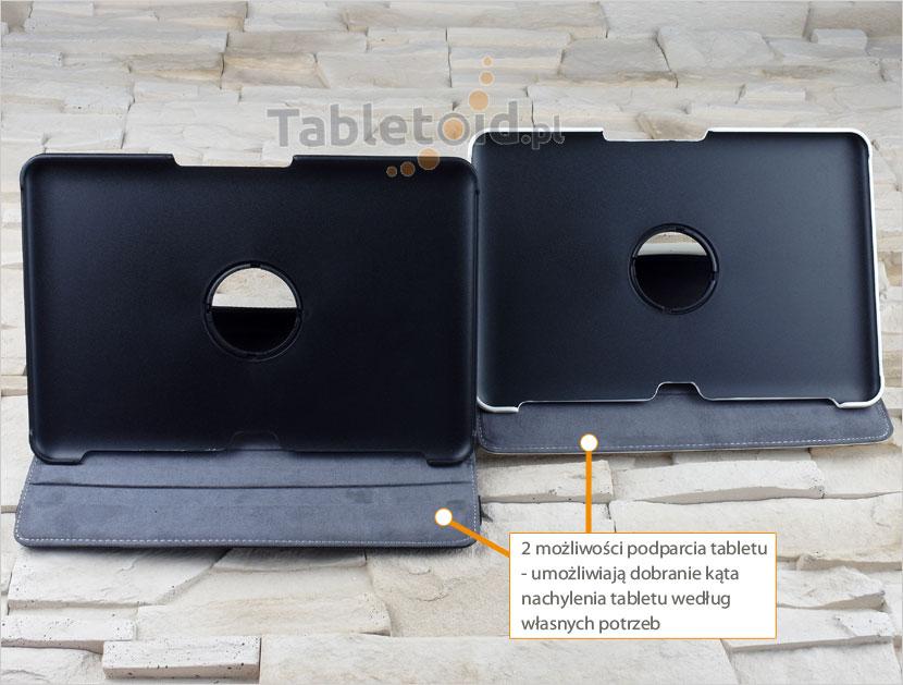 Dwa kąty nachylenia tabletu