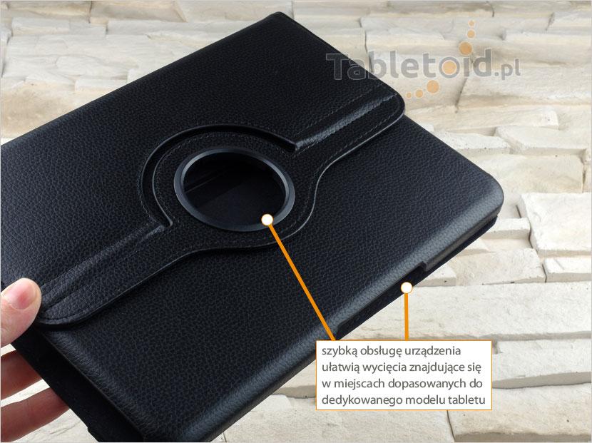 dedykowane wycięcia w etui Samsung Galaxy Tab 4 10.1