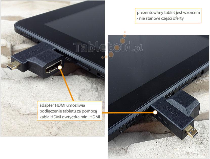 Podłączenie przejściówki HDMI do tabletu