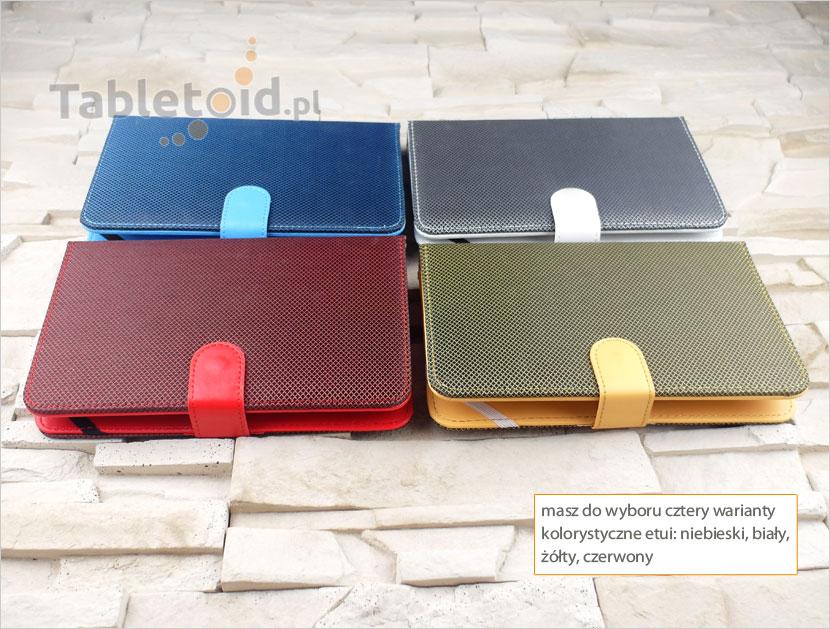 kolorowe etui z klawiaturą do tabletów 7 cali