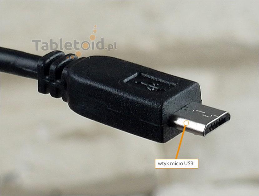 wtyk micro USB ładowarki samochodowej