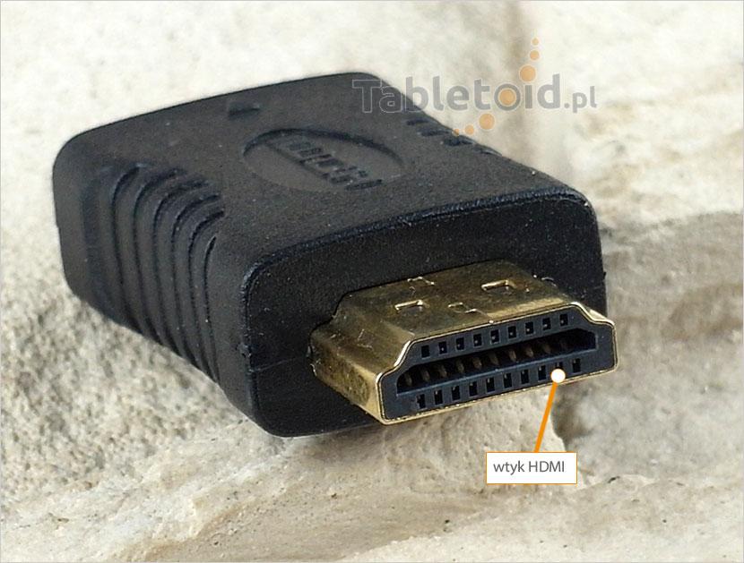 Przejście: wtyk HDMI -> gniazdo mini HDMI do tabletu