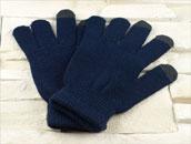 Rękawiczki do ekranów dotykowych - GRANATOWE