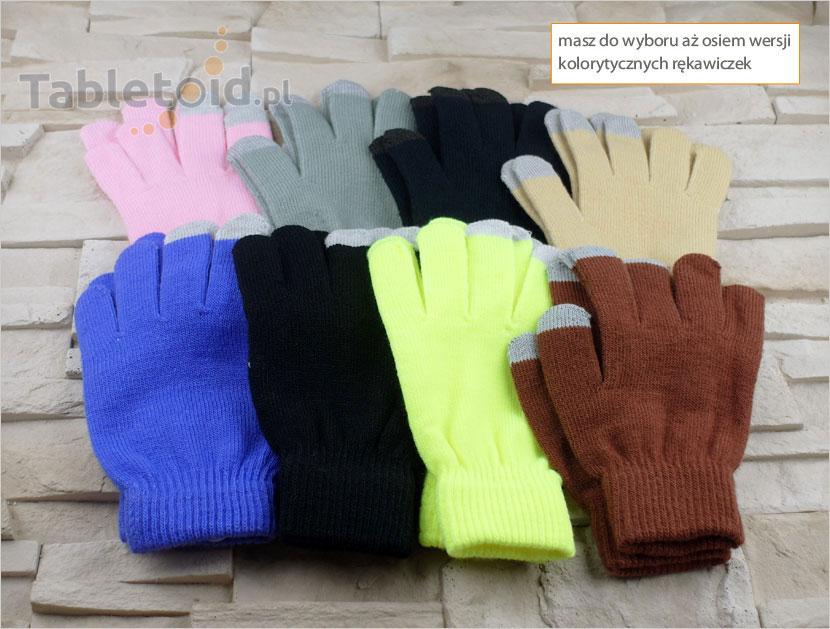rękawiczki do ekranów dotykowych - 3 kolory