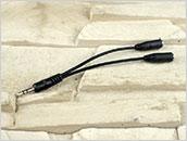 Rozdzielacz: mini-jack 3,5 mm na kablu