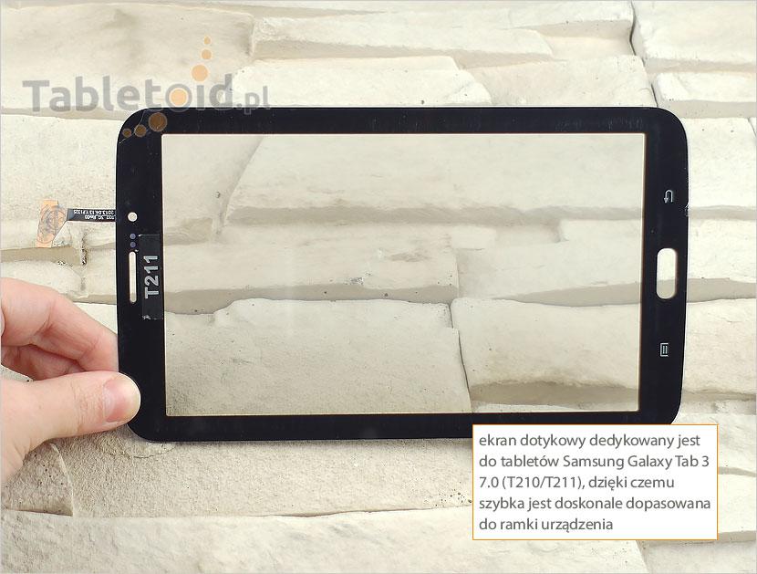 Ekran dotykowy do tabletu Samsung Galaxy Tab 3 7.0 (T210/T211)