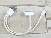 Adapter: wtyk USB do micro-USB + iPad 1, 2, 3