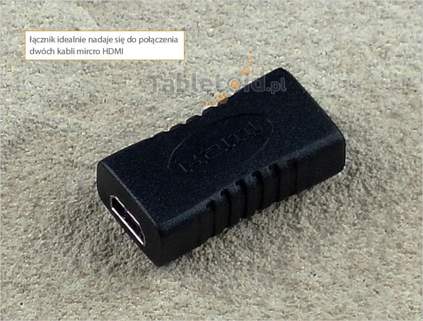 łącznik kabli micro HDMI