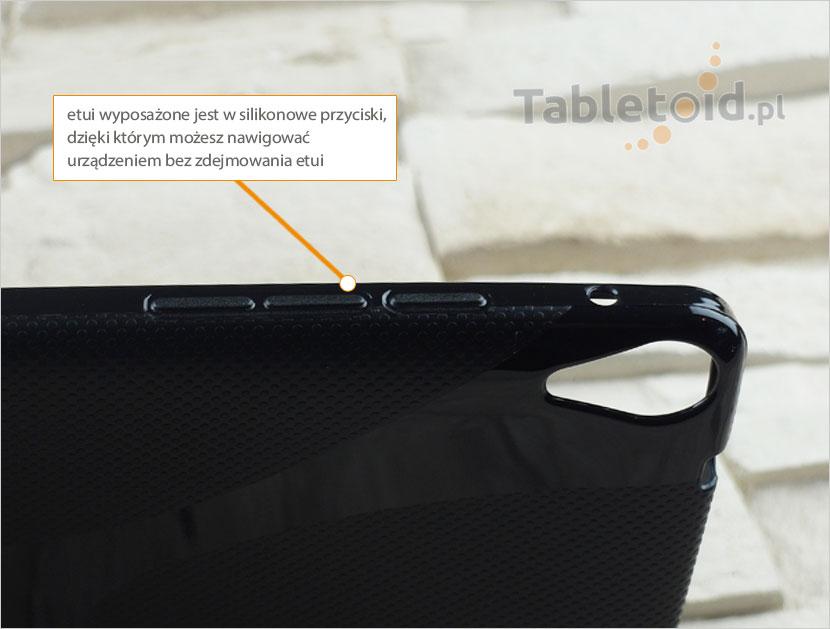 przyciski w silikonowym etui do tabletu Asus Nexus 9 cali