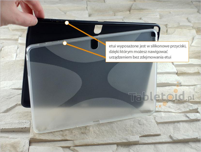 przyciski silikonowego etui do tabletu
