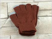 Rękawiczki do ekranów dotykowych - BRĄZOWE