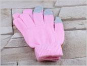 Rękawiczki do ekranów dotykowych - RÓŻOWE