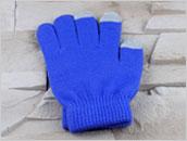 Rękawiczki do ekranów dotykowych - NIEBIESKIE