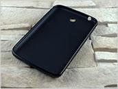 Silikowany pokrowiec do tabletu Samsung Galaxy Tab 3 7.0″ – czarny, dopasowany